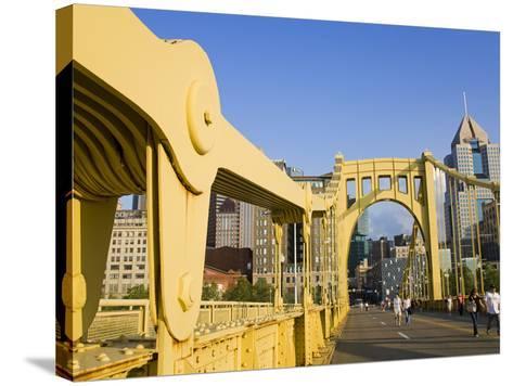 Roberto Clemente Bridge (6th Street Bridge) over the Allegheny River, Pittsburgh, Pennsylvania, Uni-Richard Cummins-Stretched Canvas Print