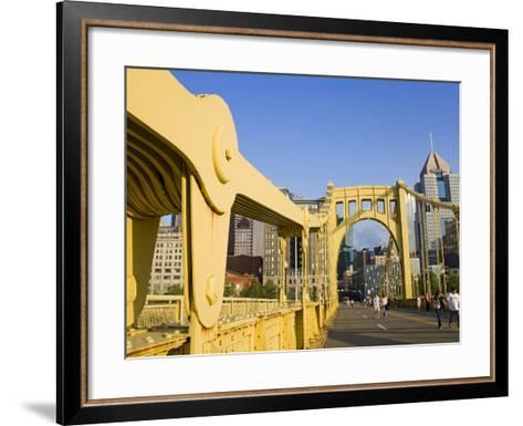 Roberto Clemente Bridge (6th Street Bridge) over the Allegheny River, Pittsburgh, Pennsylvania, Uni-Richard Cummins-Framed Art Print