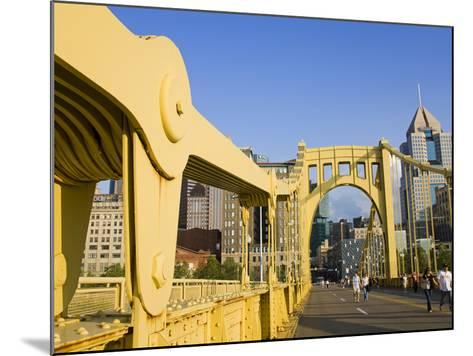 Roberto Clemente Bridge (6th Street Bridge) over the Allegheny River, Pittsburgh, Pennsylvania, Uni-Richard Cummins-Mounted Photographic Print