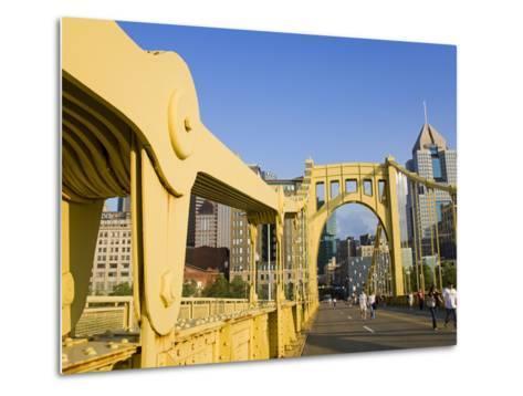 Roberto Clemente Bridge (6th Street Bridge) over the Allegheny River, Pittsburgh, Pennsylvania, Uni-Richard Cummins-Metal Print