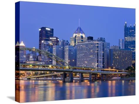 Pittsburgh Skyline and the Allegheny River, Pittsburgh, Pennsylvania, United States of America, Nor-Richard Cummins-Stretched Canvas Print