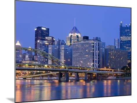 Pittsburgh Skyline and the Allegheny River, Pittsburgh, Pennsylvania, United States of America, Nor-Richard Cummins-Mounted Photographic Print