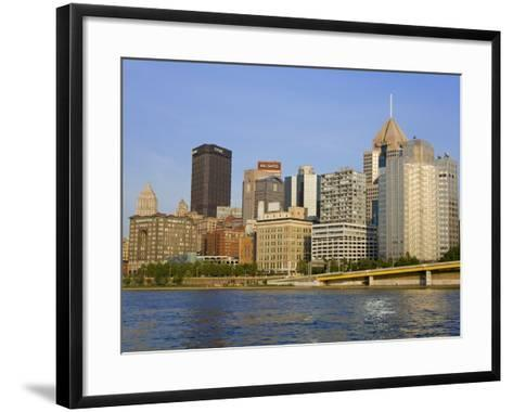 Pittsburgh Skyline and the Allegheny River, Pittsburgh, Pennsylvania, United States of America, Nor-Richard Cummins-Framed Art Print