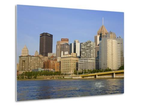 Pittsburgh Skyline and the Allegheny River, Pittsburgh, Pennsylvania, United States of America, Nor-Richard Cummins-Metal Print