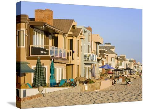 Oceanfront Homes in Newport Beach, Orange County, California, United States of America, North Ameri-Richard Cummins-Stretched Canvas Print