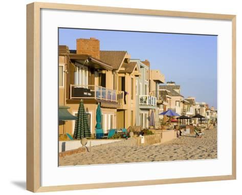 Oceanfront Homes in Newport Beach, Orange County, California, United States of America, North Ameri-Richard Cummins-Framed Art Print