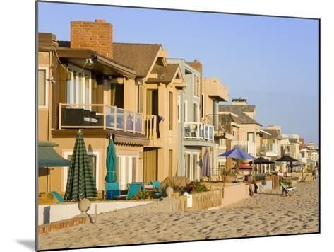 Oceanfront Homes in Newport Beach, Orange County, California, United States of America, North Ameri-Richard Cummins-Mounted Photographic Print