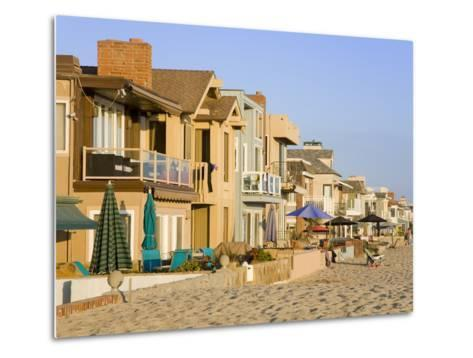 Oceanfront Homes in Newport Beach, Orange County, California, United States of America, North Ameri-Richard Cummins-Metal Print