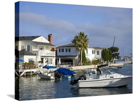 Grand Canal on Balboa Island, Newport Beach, Orange County, California, United States of America, N-Richard Cummins-Stretched Canvas Print