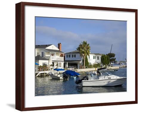 Grand Canal on Balboa Island, Newport Beach, Orange County, California, United States of America, N-Richard Cummins-Framed Art Print