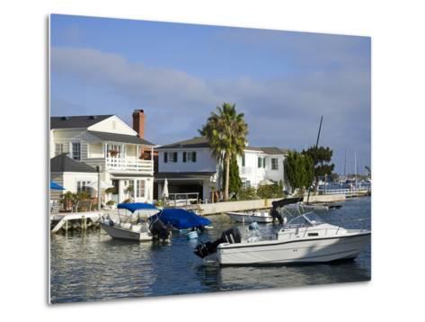 Grand Canal on Balboa Island, Newport Beach, Orange County, California, United States of America, N-Richard Cummins-Metal Print