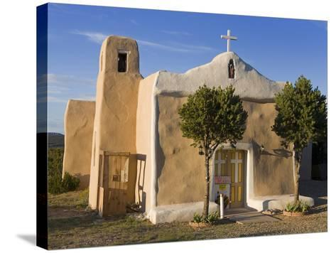 San Francisco De Asis Church Dating from 1835, Golden, New Mexico, United States of America, North -Richard Cummins-Stretched Canvas Print