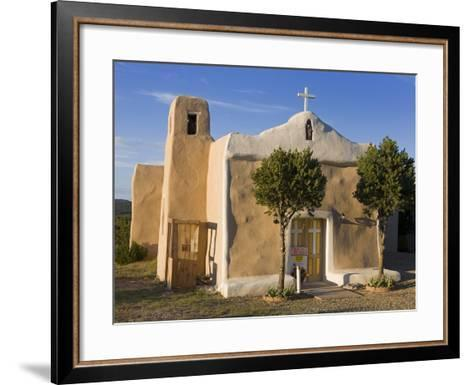 San Francisco De Asis Church Dating from 1835, Golden, New Mexico, United States of America, North -Richard Cummins-Framed Art Print