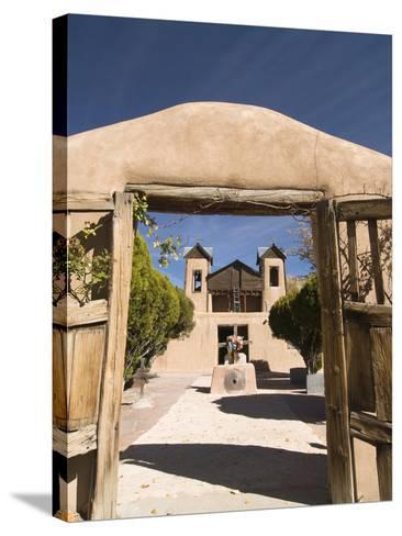 El Santuario De Chimayo, Built in 1816, Chimayo, New Mexico, United States of America, North Americ-Richard Maschmeyer-Stretched Canvas Print