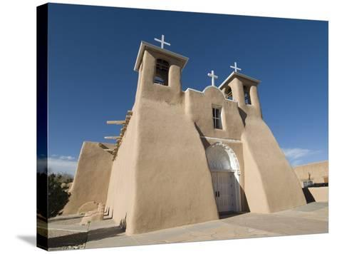Old Mission of St. Francis De Assisi, Ranchos De Taos, New Mexico, United States of America, North -Richard Maschmeyer-Stretched Canvas Print