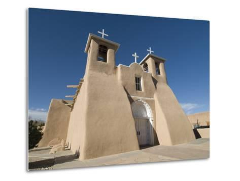 Old Mission of St. Francis De Assisi, Ranchos De Taos, New Mexico, United States of America, North -Richard Maschmeyer-Metal Print