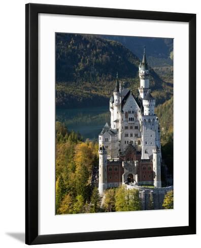 Romantic Neuschwanstein Castle and German Alps During Autumn, Southern Part of Romantic Road, Bavar-Richard Nebesky-Framed Art Print