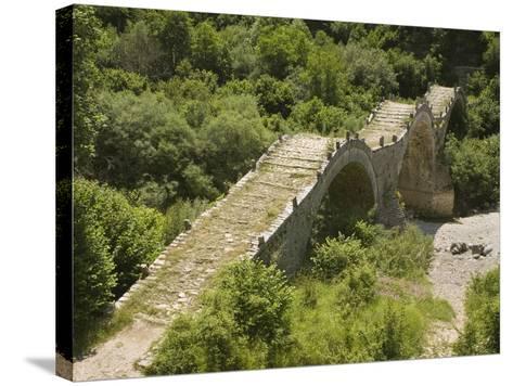 Lazaridis (Kontodimos) Bridge, Dating from 1753, Kipi, Zagoria Mountains, Epiros, Greece, Europe-Rolf Richardson-Stretched Canvas Print