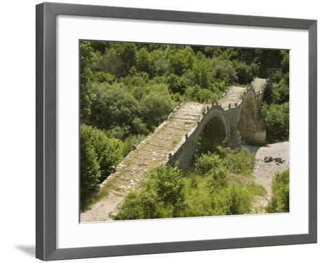 Lazaridis (Kontodimos) Bridge, Dating from 1753, Kipi, Zagoria Mountains, Epiros, Greece, Europe-Rolf Richardson-Framed Art Print