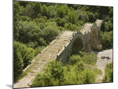 Lazaridis (Kontodimos) Bridge, Dating from 1753, Kipi, Zagoria Mountains, Epiros, Greece, Europe-Rolf Richardson-Mounted Photographic Print