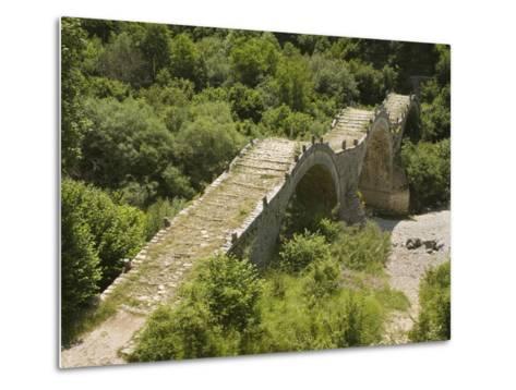 Lazaridis (Kontodimos) Bridge, Dating from 1753, Kipi, Zagoria Mountains, Epiros, Greece, Europe-Rolf Richardson-Metal Print