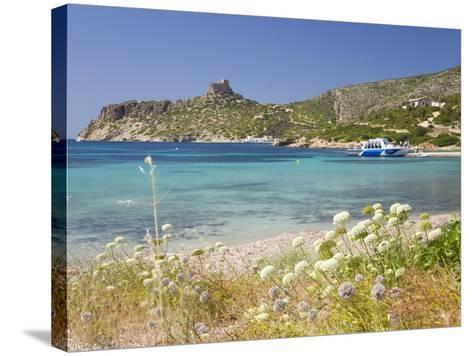 View across Bay to the Castle, Cabrera Island, Cabrera Archipelago National Park, Mallorca, Baleari-Ruth Tomlinson-Stretched Canvas Print
