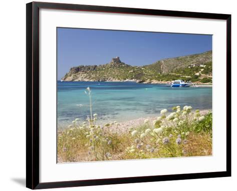 View across Bay to the Castle, Cabrera Island, Cabrera Archipelago National Park, Mallorca, Baleari-Ruth Tomlinson-Framed Art Print