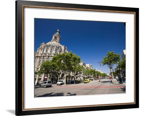 Passeig De Gracia, Barcelona, Catalonia, Spain, Europe-Sergio Pitamitz-Framed Art Print