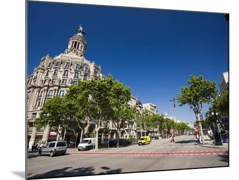 Passeig De Gracia, Barcelona, Catalonia, Spain, Europe-Sergio Pitamitz-Mounted Photographic Print