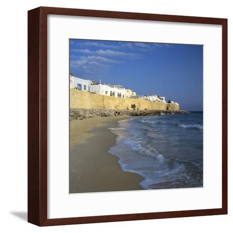 The Medina Walls, Hammamet, Cap Bon, Tunisia, North Africa, Africa-Stuart Black-Framed Art Print