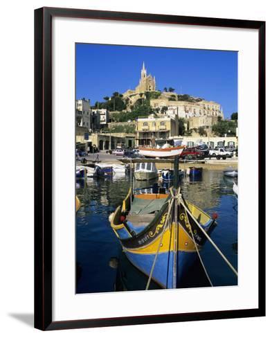 Luzzu Fishing Boat, Mgarr Harbour, Gozo, Malta, Mediterranean, Europe-Stuart Black-Framed Art Print