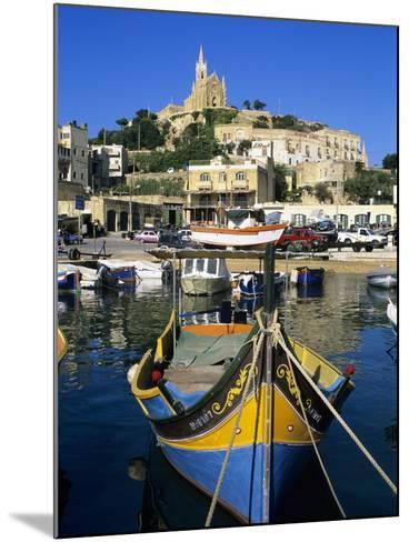 Luzzu Fishing Boat, Mgarr Harbour, Gozo, Malta, Mediterranean, Europe-Stuart Black-Mounted Photographic Print