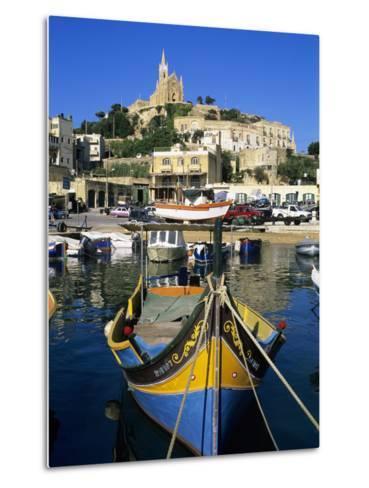 Luzzu Fishing Boat, Mgarr Harbour, Gozo, Malta, Mediterranean, Europe-Stuart Black-Metal Print