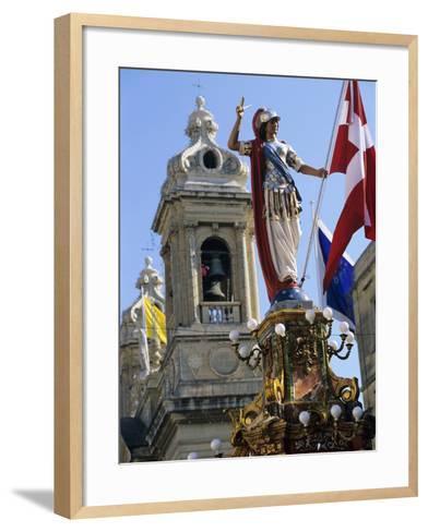 Church of Our Lady of Victories During Celebrations for Victory Day on 8th September, Senglea, Malt-Stuart Black-Framed Art Print