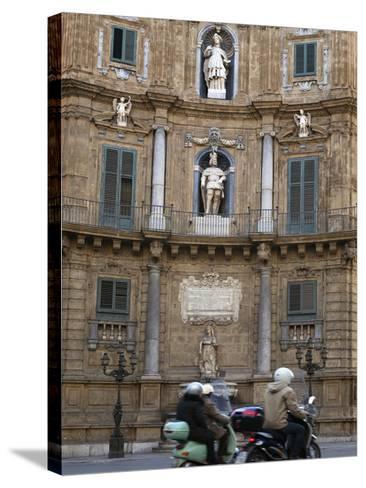 Quattro Canti (Four Corners), Palermo, Sicily, Italy, Europe-Stuart Black-Stretched Canvas Print