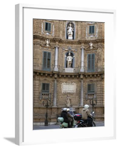 Quattro Canti (Four Corners), Palermo, Sicily, Italy, Europe-Stuart Black-Framed Art Print