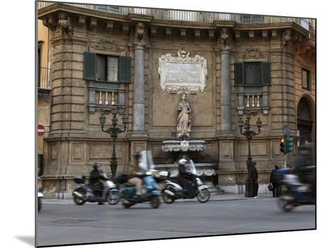 Quattro Canti (Four Corners), Palermo, Sicily, Italy, Europe-Stuart Black-Mounted Photographic Print