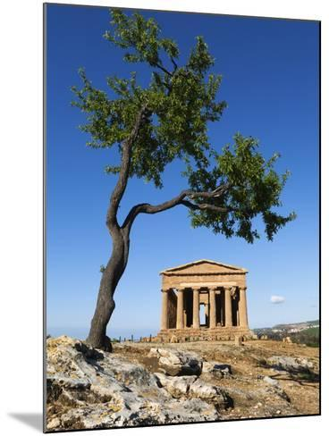 Tempio Di Concordia (Concord) and Almond Tree, Valle Dei Templi, UNESCO World Heritage Site, Agrige-Stuart Black-Mounted Photographic Print