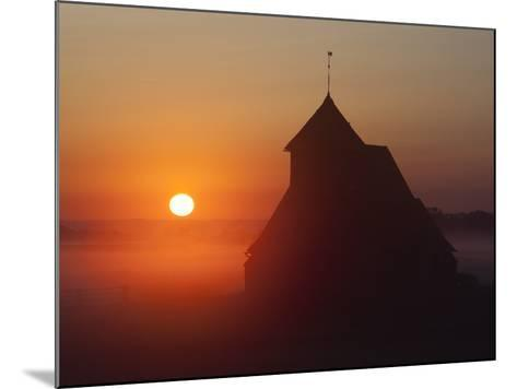 Fairfield Church at Sunrise, Romney Marsh, Near Rye, Kent, England, United Kingdom, Europe-Stuart Black-Mounted Photographic Print