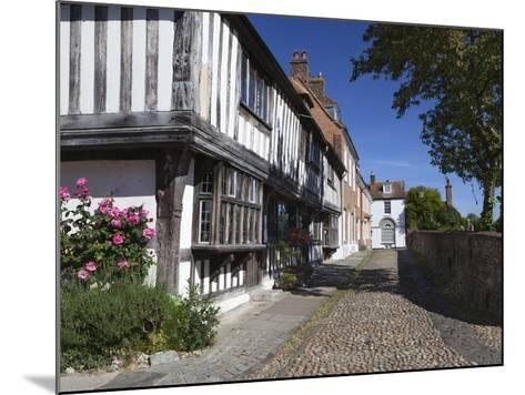 Cobbled Street and Old Houses on Church Square, Rye, East Sussex, England, United Kingdom, Europe-Stuart Black-Mounted Photographic Print