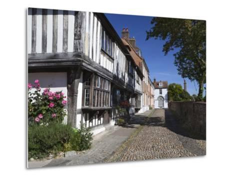 Cobbled Street and Old Houses on Church Square, Rye, East Sussex, England, United Kingdom, Europe-Stuart Black-Metal Print