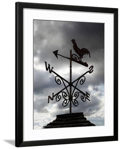 Weather Vane, United Kingdom, Europe-Stuart Black-Framed Art Print