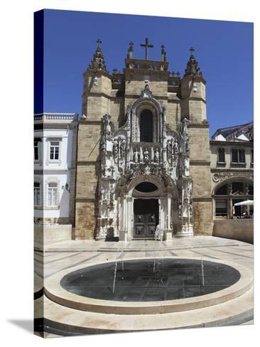 The Santa Cruz Church, with Manueline Facade, on the Praca 8 De Maio Square, Coimbra, Beira Litoral-Stuart Forster-Stretched Canvas Print