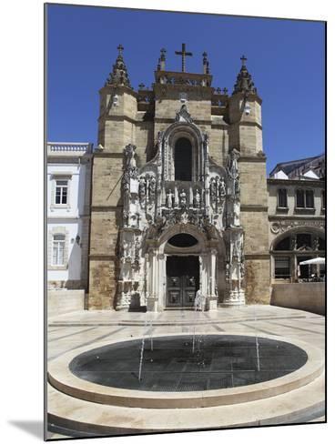 The Santa Cruz Church, with Manueline Facade, on the Praca 8 De Maio Square, Coimbra, Beira Litoral-Stuart Forster-Mounted Photographic Print