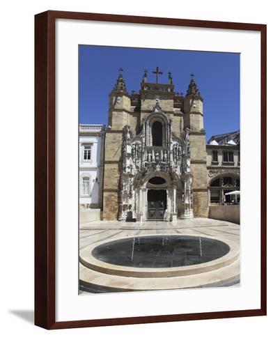 The Santa Cruz Church, with Manueline Facade, on the Praca 8 De Maio Square, Coimbra, Beira Litoral-Stuart Forster-Framed Art Print