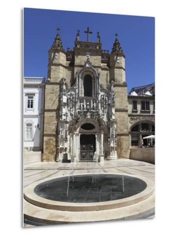 The Santa Cruz Church, with Manueline Facade, on the Praca 8 De Maio Square, Coimbra, Beira Litoral-Stuart Forster-Metal Print