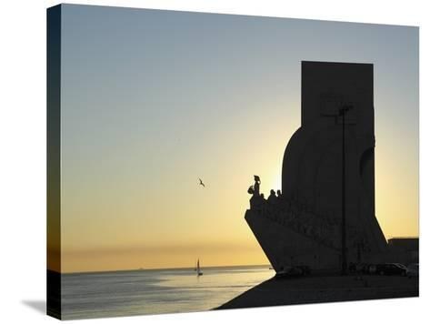Sundown at the Monument to the Discoveries (Padrao Dos Descobrimentos) by the River Tagus (Rio Tejo-Stuart Forster-Stretched Canvas Print