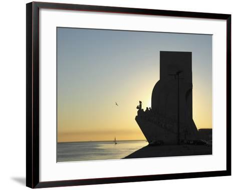 Sundown at the Monument to the Discoveries (Padrao Dos Descobrimentos) by the River Tagus (Rio Tejo-Stuart Forster-Framed Art Print