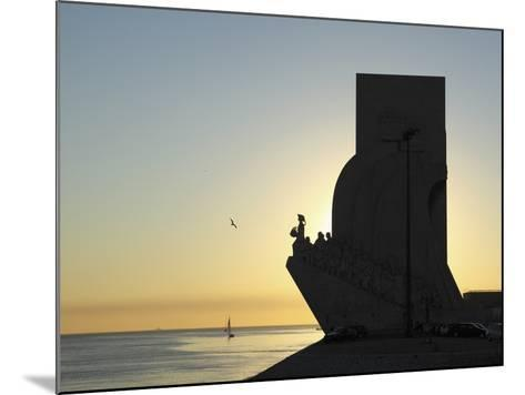 Sundown at the Monument to the Discoveries (Padrao Dos Descobrimentos) by the River Tagus (Rio Tejo-Stuart Forster-Mounted Photographic Print