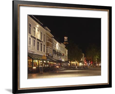 Cafes and Restaurants at the Grote Markt (Big Market) Square at Night, Breda, Noord-Brabant, Nether-Stuart Forster-Framed Art Print